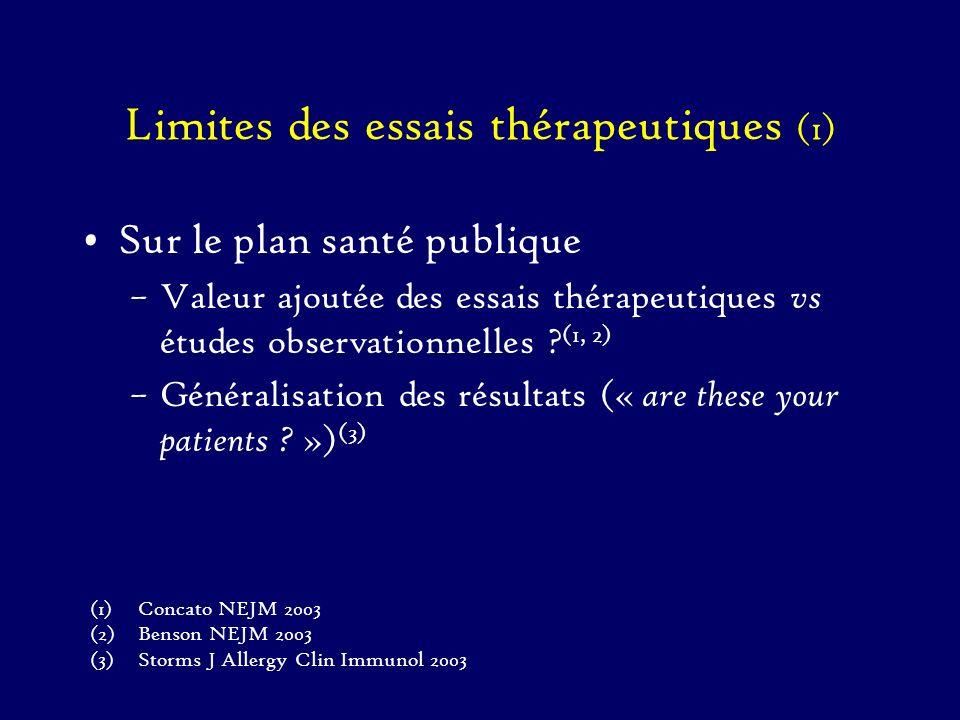 Limites des essais thérapeutiques (1)