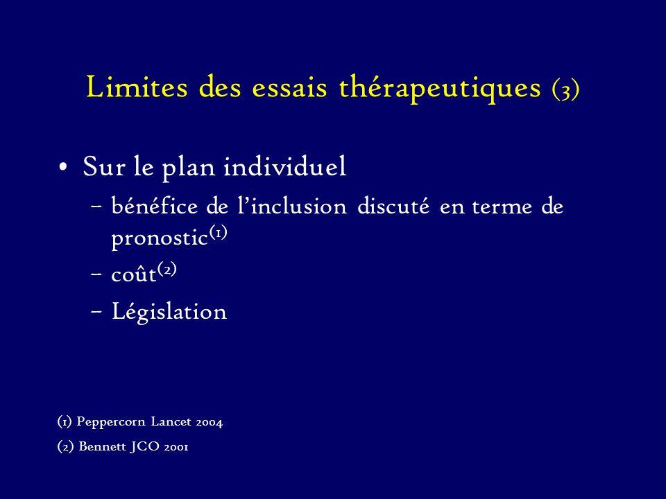 Limites des essais thérapeutiques (3)