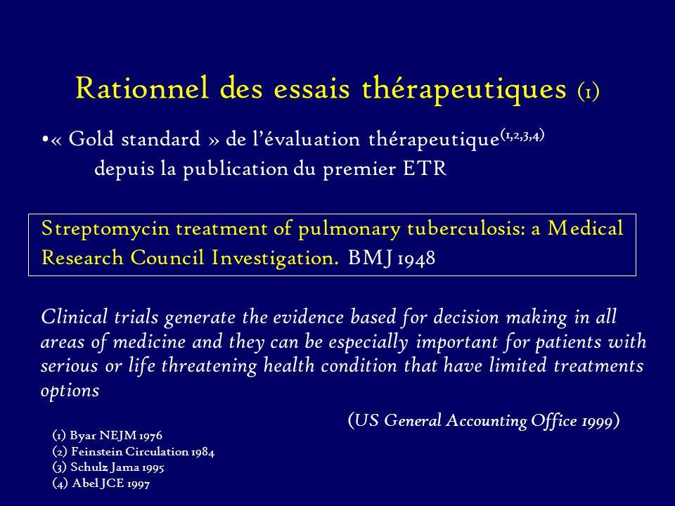Rationnel des essais thérapeutiques (1)
