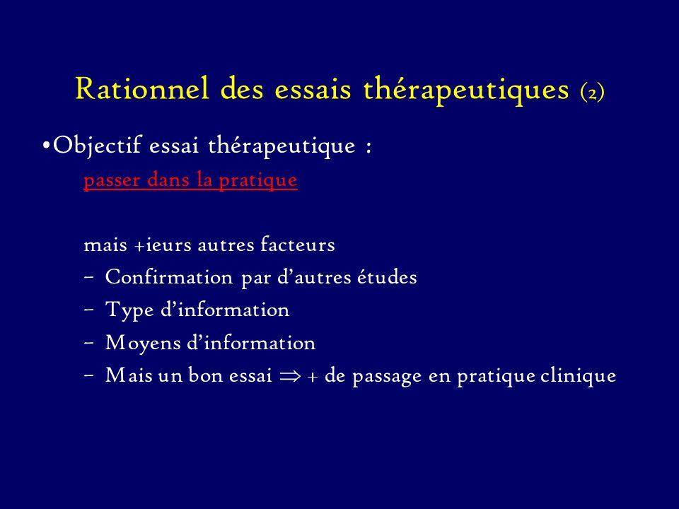 Rationnel des essais thérapeutiques (2)