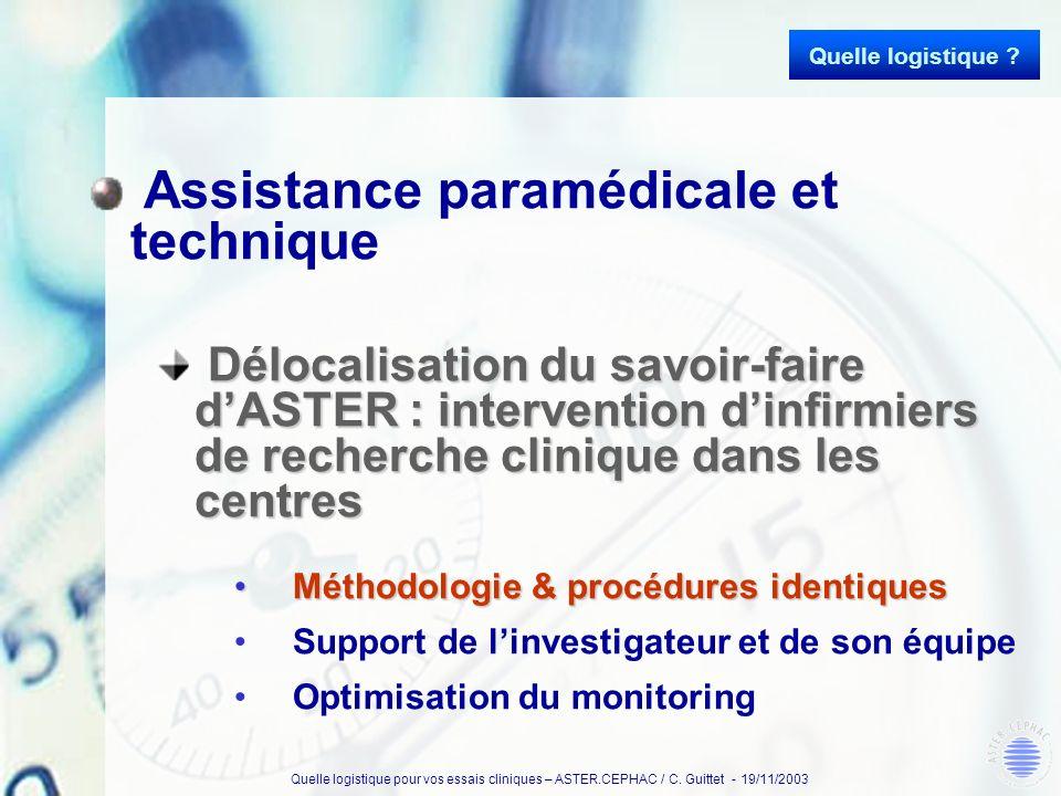Assistance paramédicale et technique