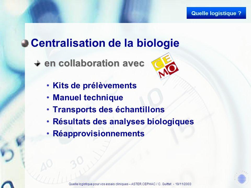 Centralisation de la biologie