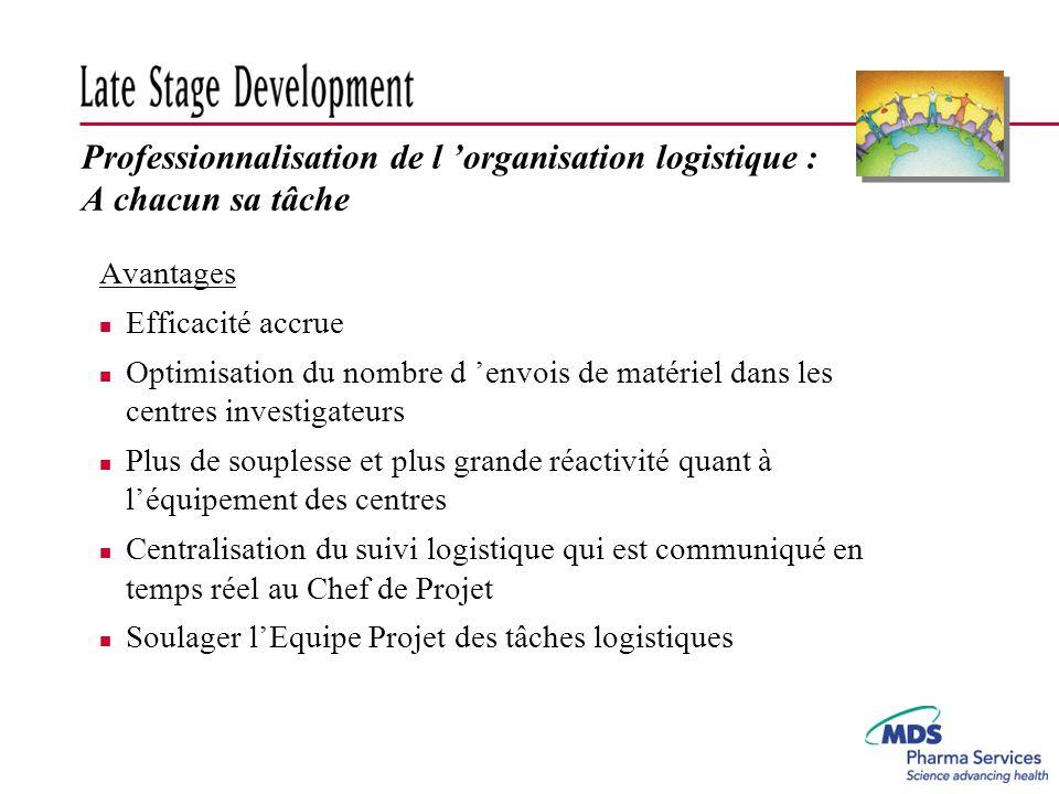 Professionnalisation de l 'organisation logistique : A chacun sa tâche