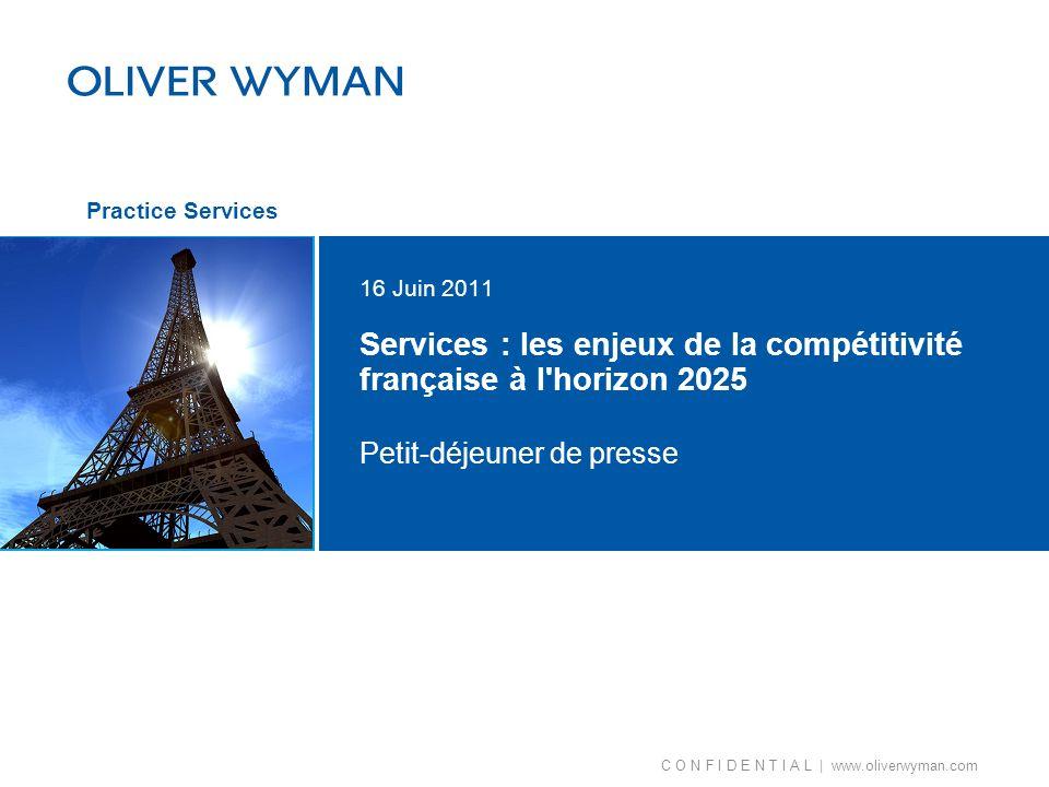 Services : les enjeux de la compétitivité française à l horizon 2025