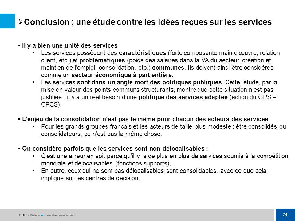 Conclusion : une étude contre les idées reçues sur les services