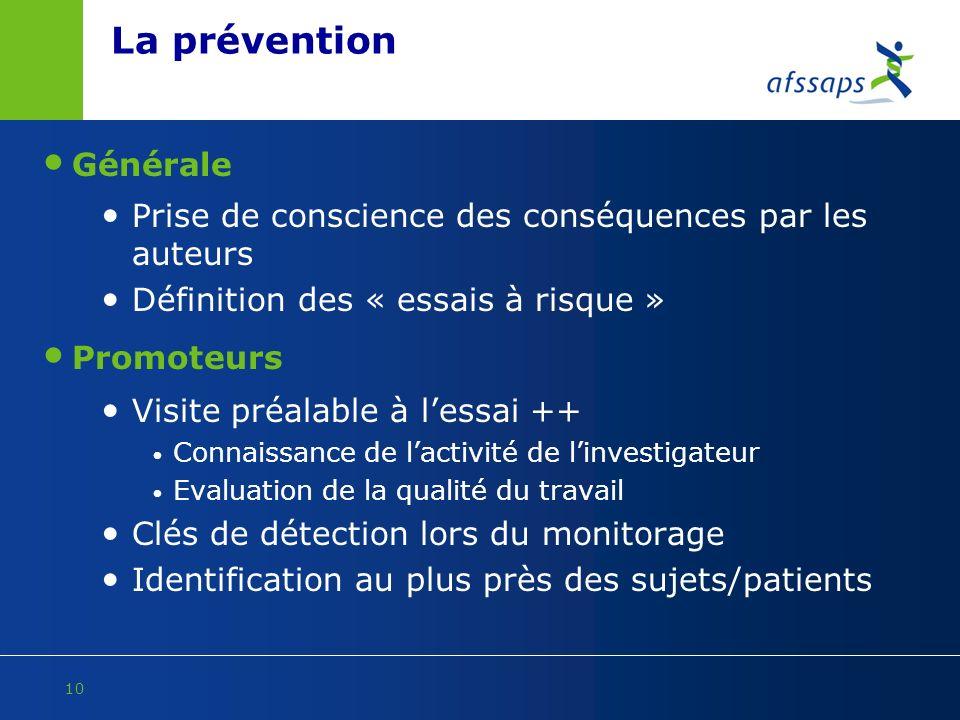 La prévention Générale