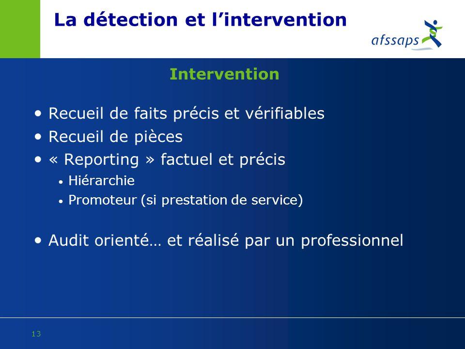 La détection et l'intervention