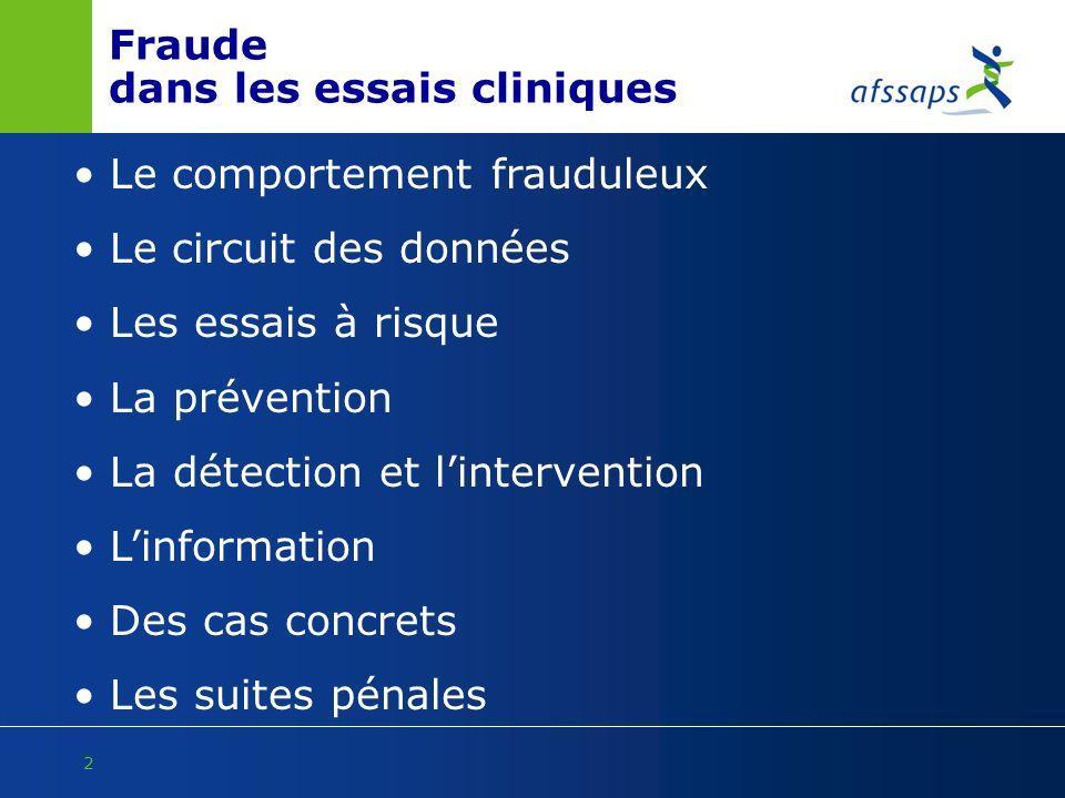 Fraude dans les essais cliniques