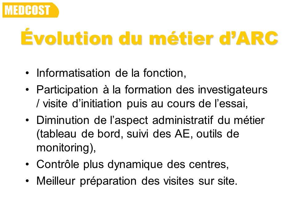 Évolution du métier d'ARC