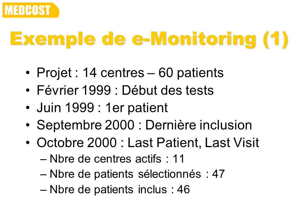 Exemple de e-Monitoring (1)