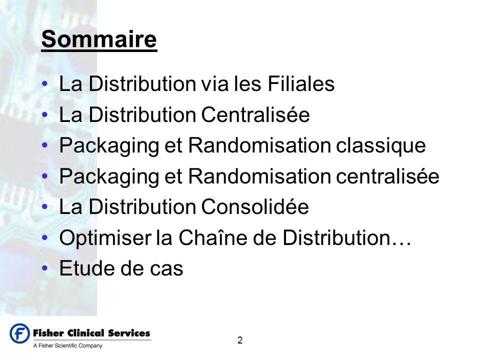Sommaire La Distribution via les Filiales La Distribution Centralisée