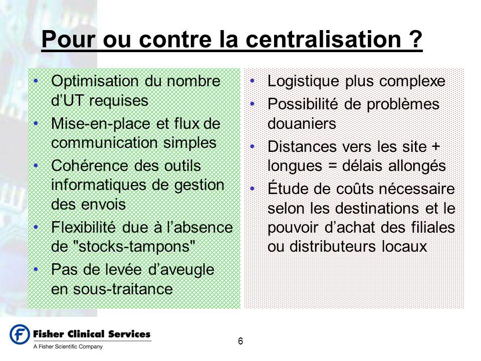 Pour ou contre la centralisation