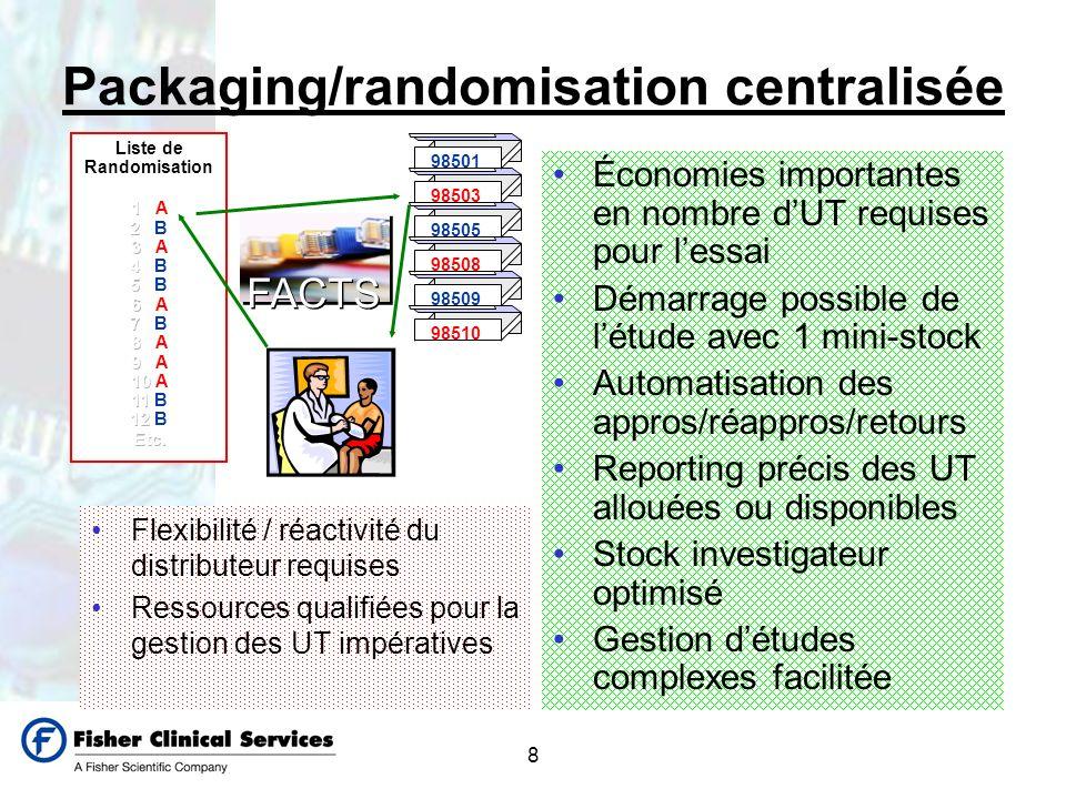Packaging/randomisation centralisée
