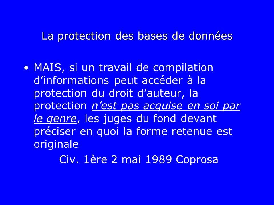 La protection des bases de données