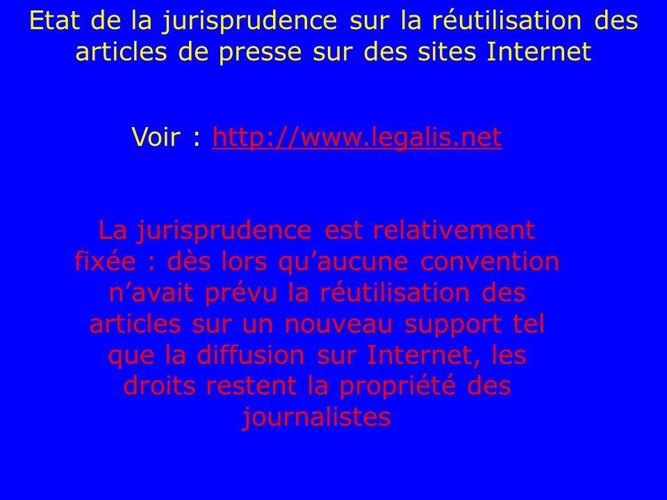 Voir : http://www.legalis.net