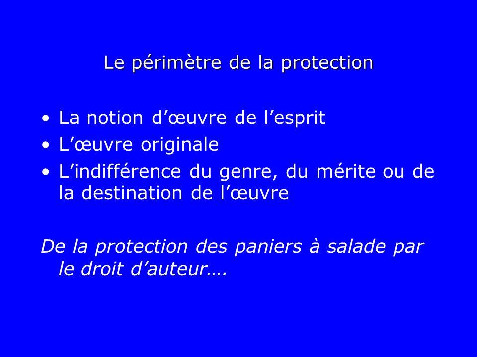 Le périmètre de la protection