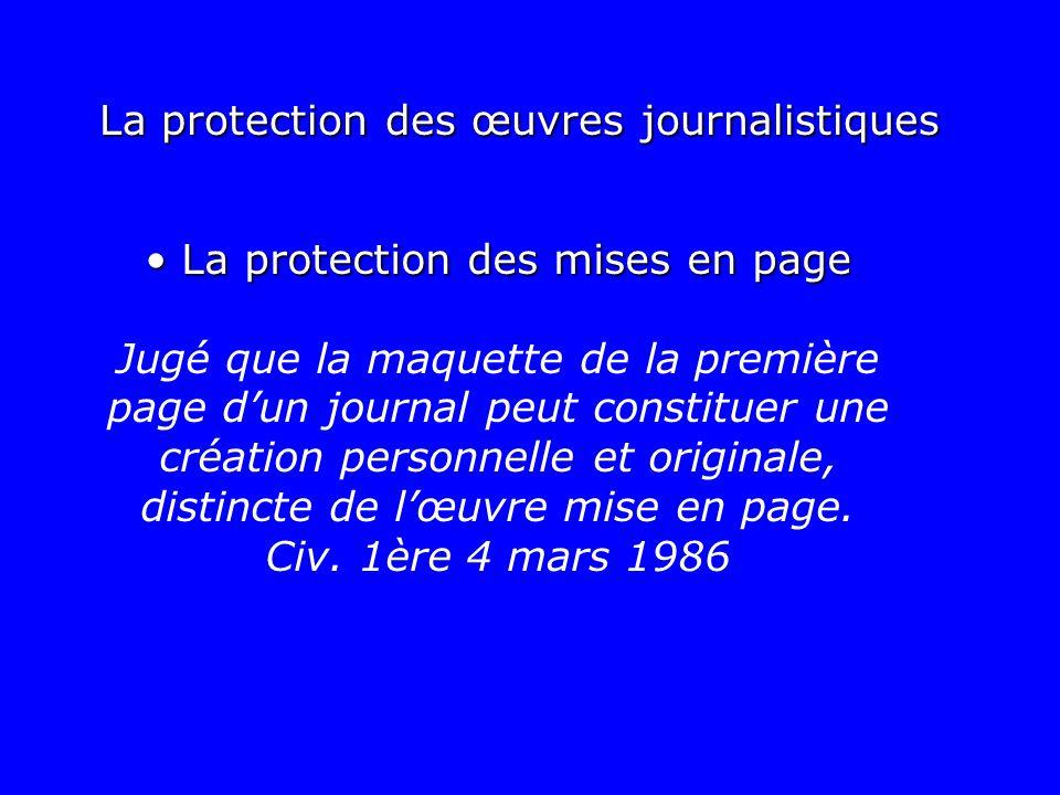 La protection des mises en page