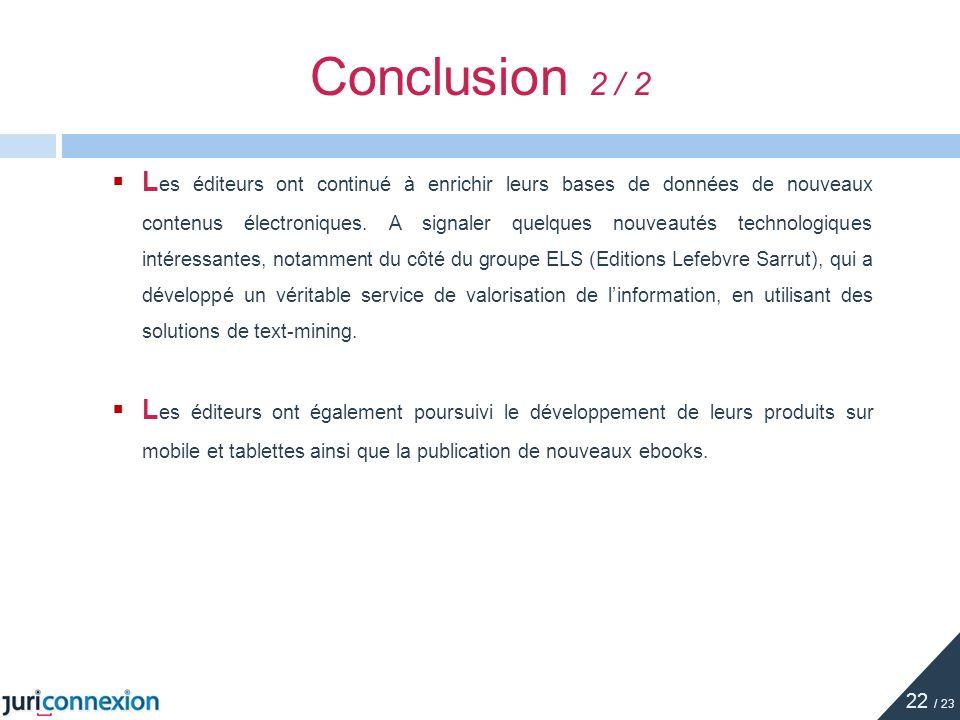 Conclusion 2 / 2