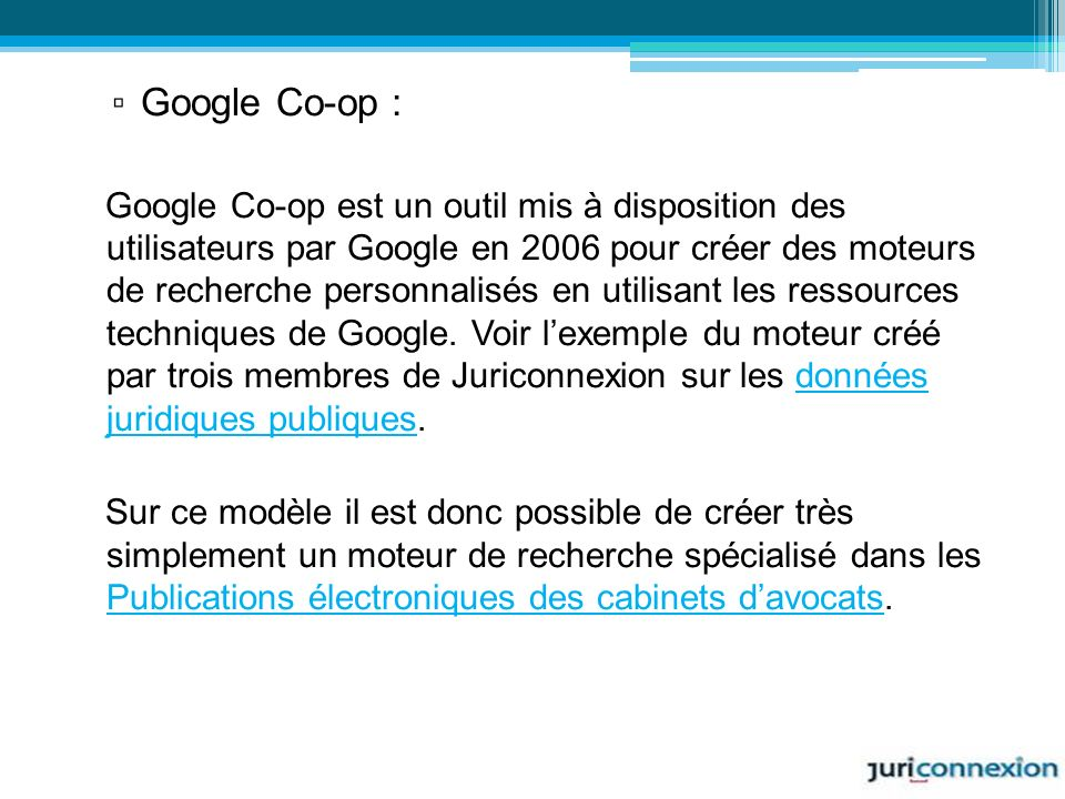 Google Co-op :