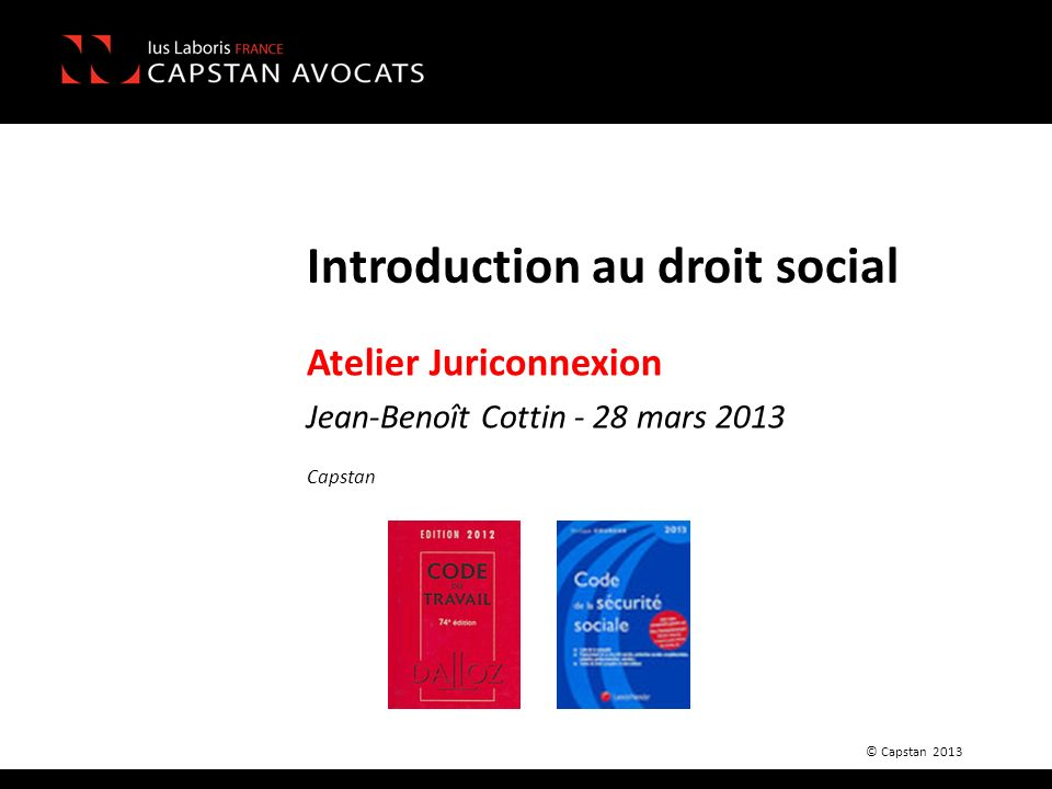 Introduction au droit social