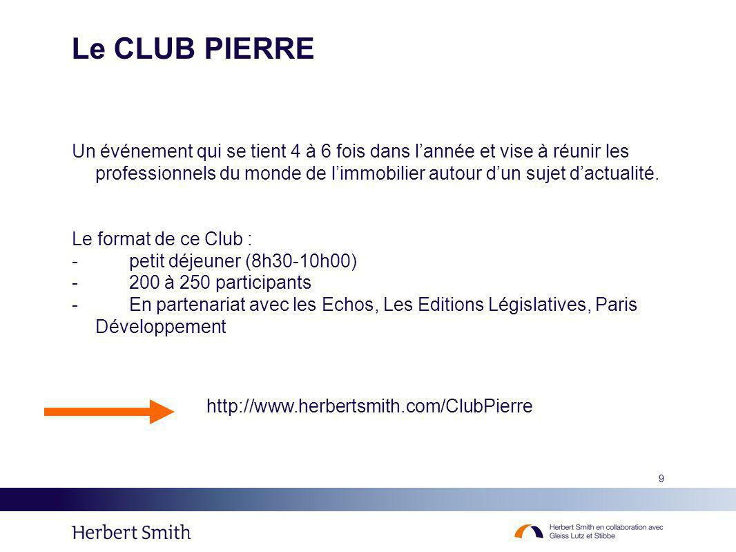 Le CLUB PIERRE