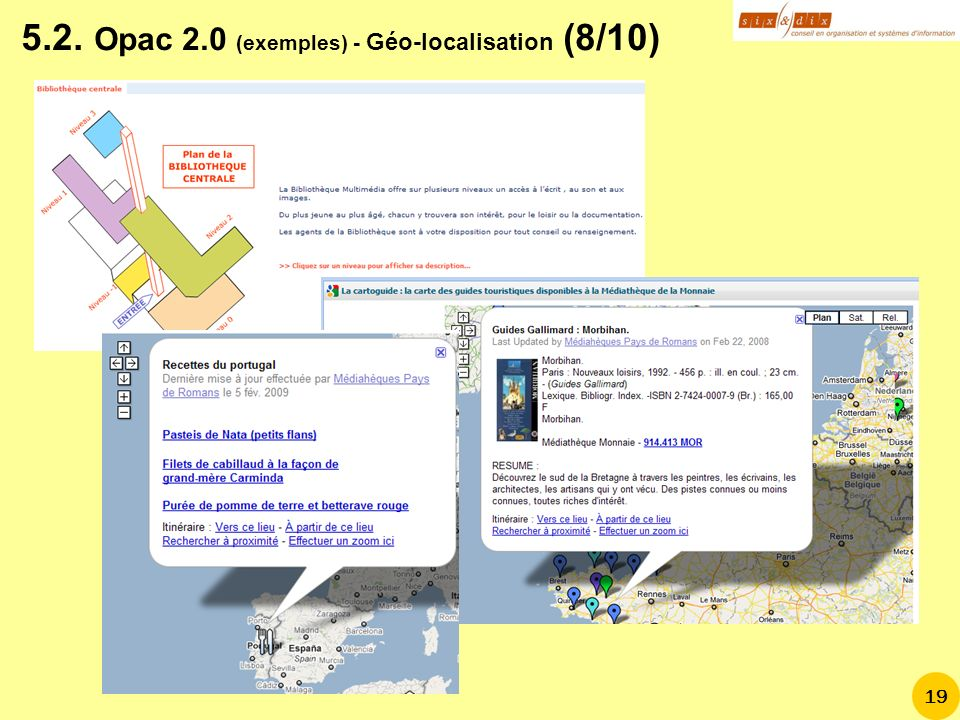 5.2. Opac 2.0 (exemples) - Géo-localisation (8/10)