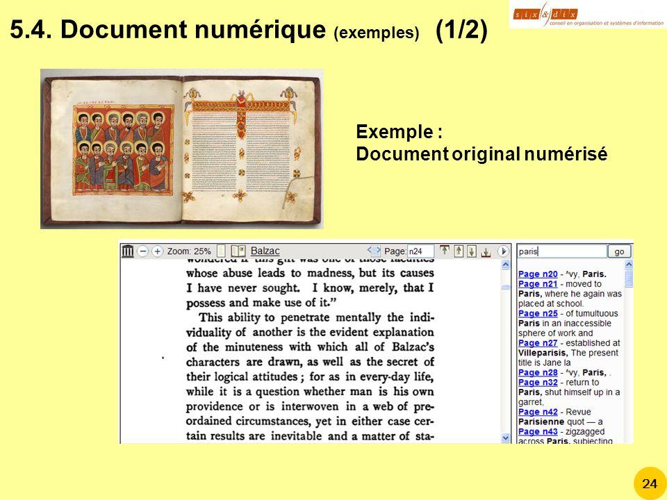 Exemple : Document original numérisé