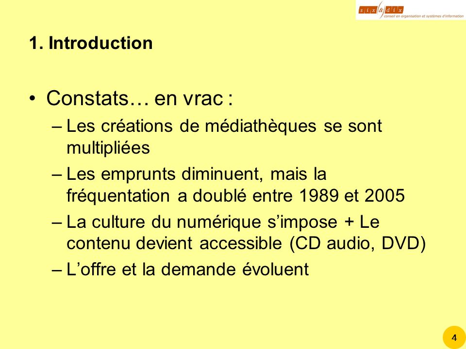 Constats… en vrac : 1. Introduction