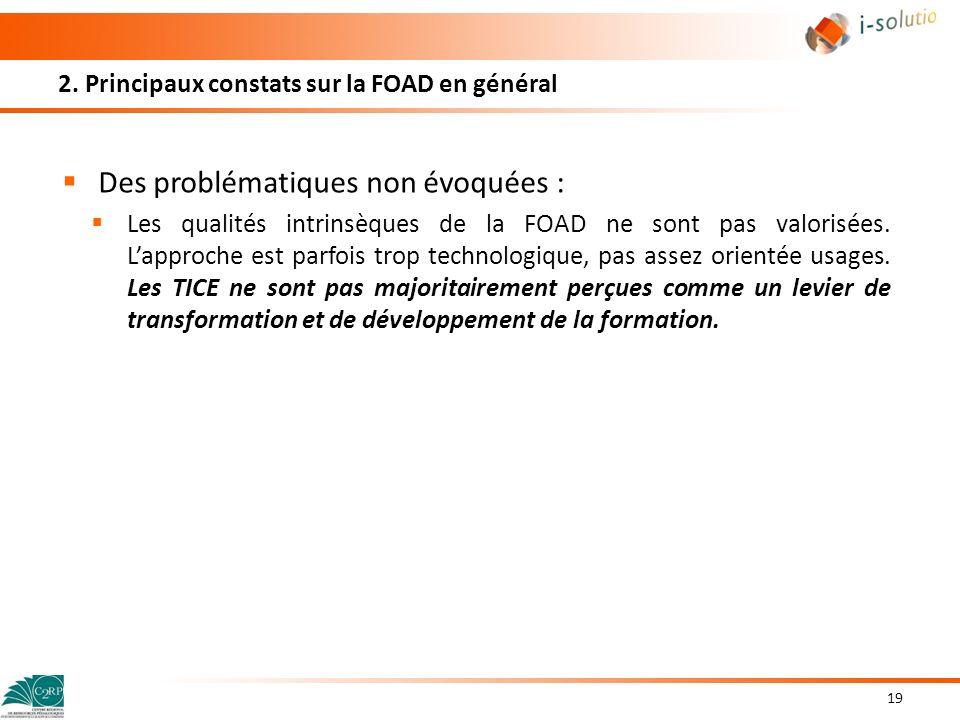 2. Principaux constats sur la FOAD en général