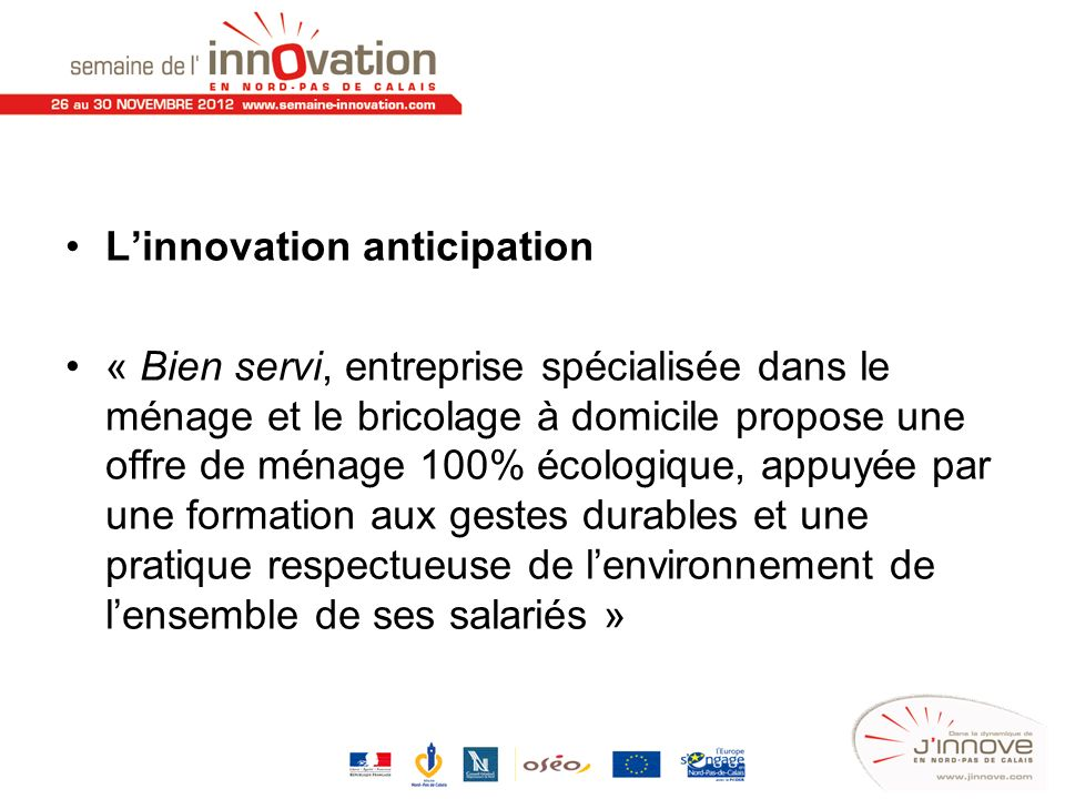 L'innovation anticipation