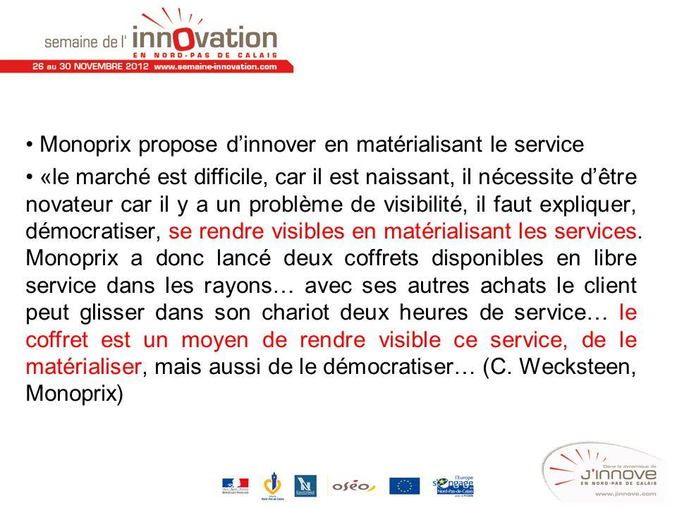 Monoprix propose d'innover en matérialisant le service