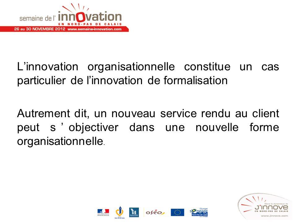 L'innovation organisationnelle constitue un cas particulier de l'innovation de formalisation