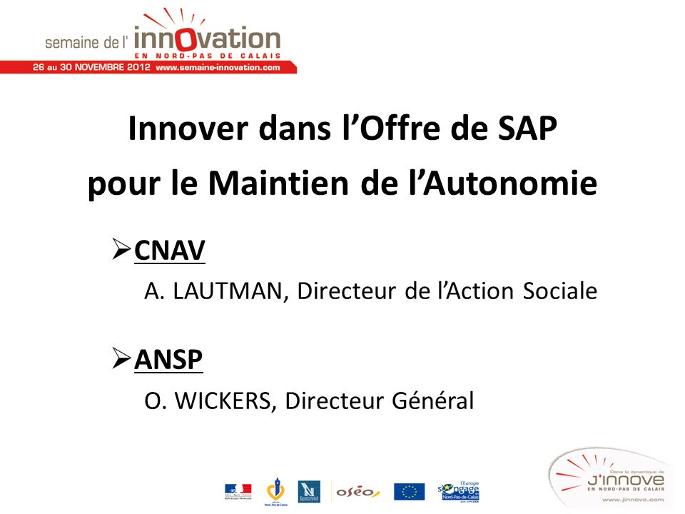 Innover dans l'Offre de SAP pour le Maintien de l'Autonomie