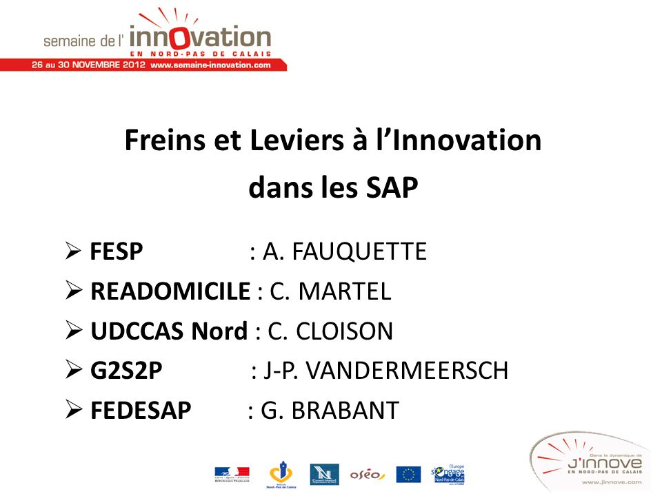 Freins et Leviers à l'Innovation