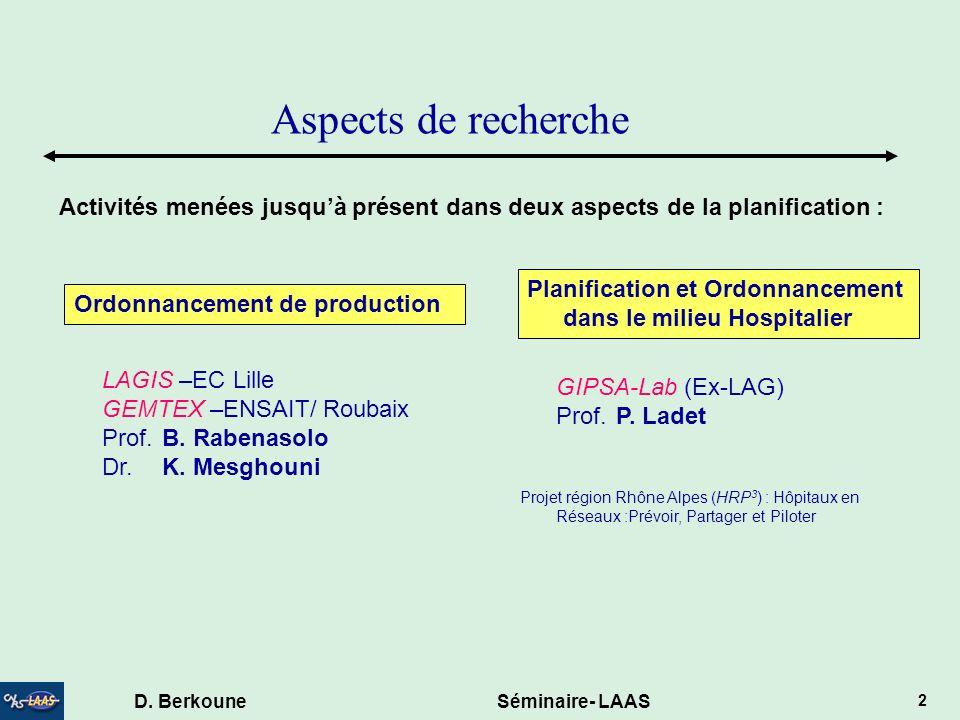 D. Berkoune Séminaire- LAAS