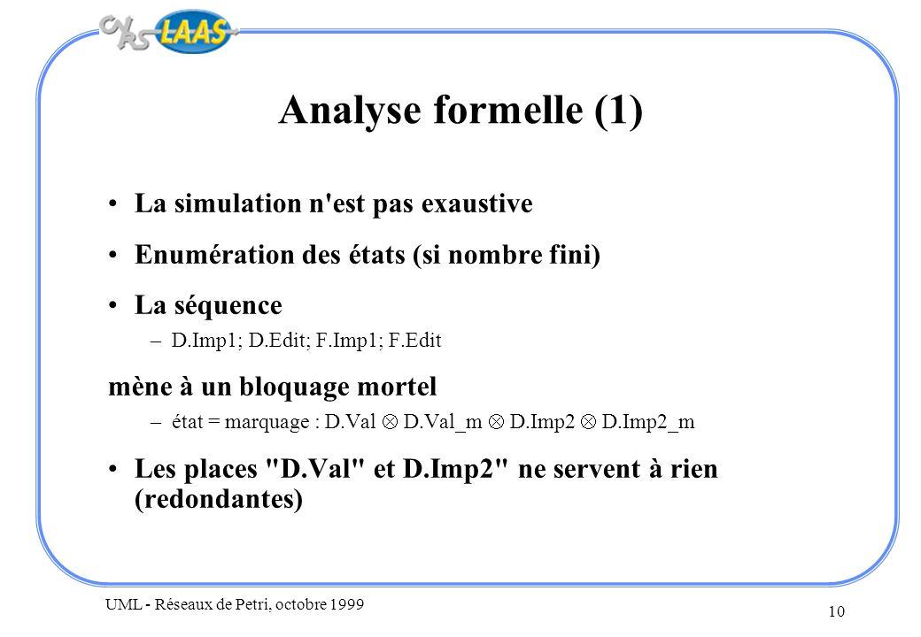 Analyse formelle (1) La simulation n est pas exaustive