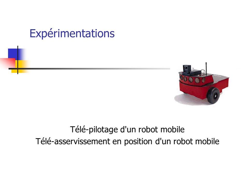 Expérimentations Télé-pilotage d un robot mobile