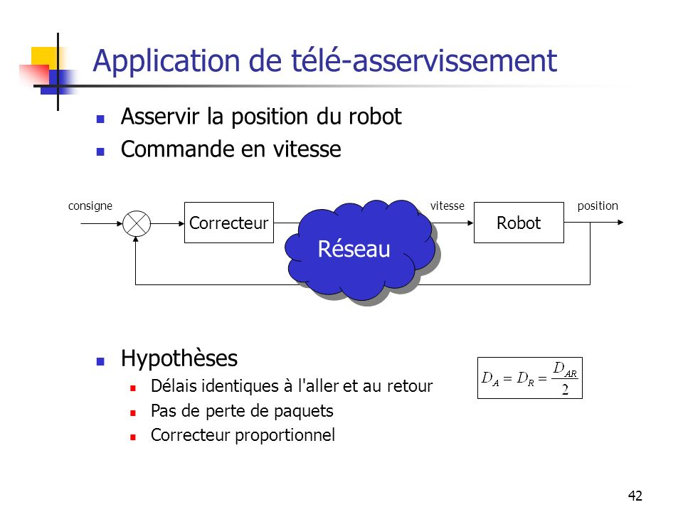 Application de télé-asservissement