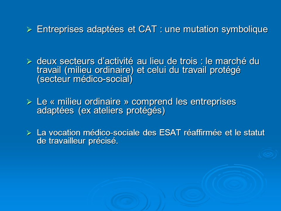 Entreprises adaptées et CAT : une mutation symbolique