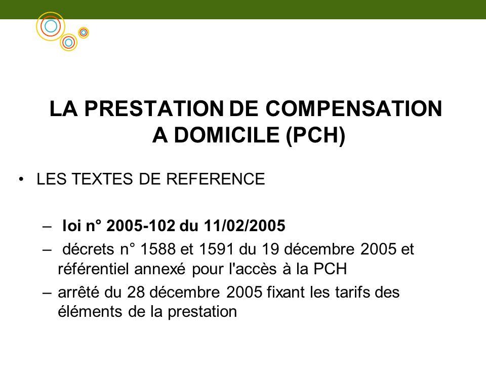 LA PRESTATION DE COMPENSATION A DOMICILE (PCH)