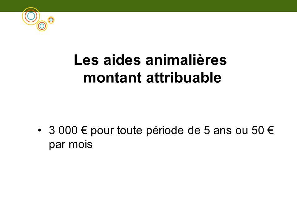 Les aides animalières montant attribuable