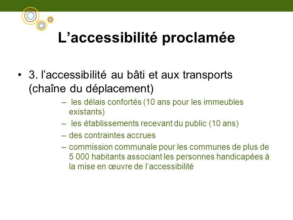 L'accessibilité proclamée