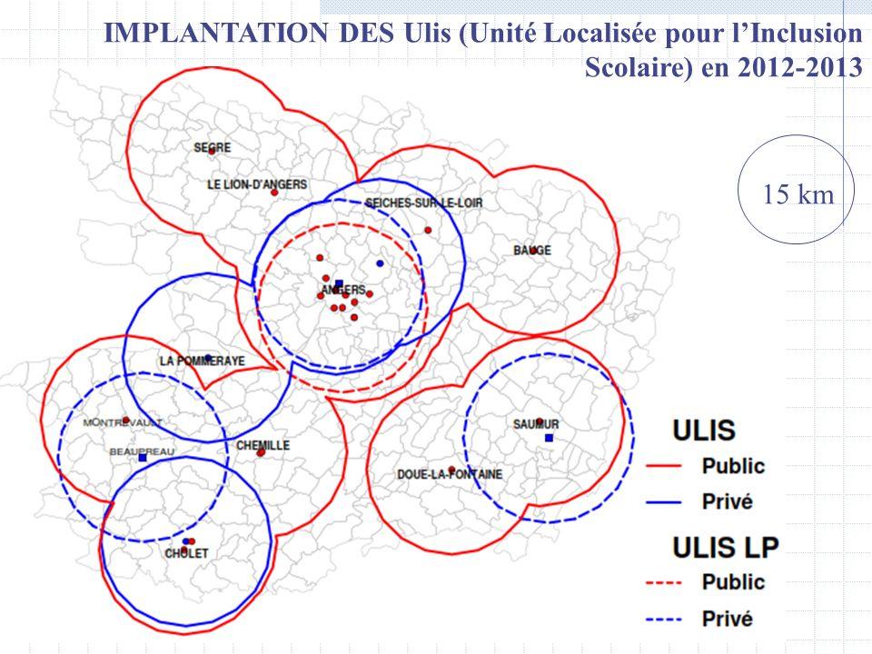 IMPLANTATION DES Ulis (Unité Localisée pour l'Inclusion Scolaire) en 2012-2013