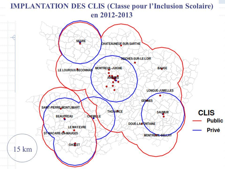 IMPLANTATION DES CLIS (Classe pour l'Inclusion Scolaire) en 2012-2013