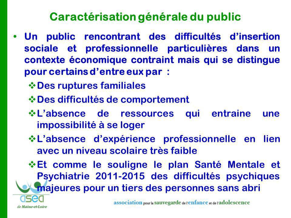 Caractérisation générale du public