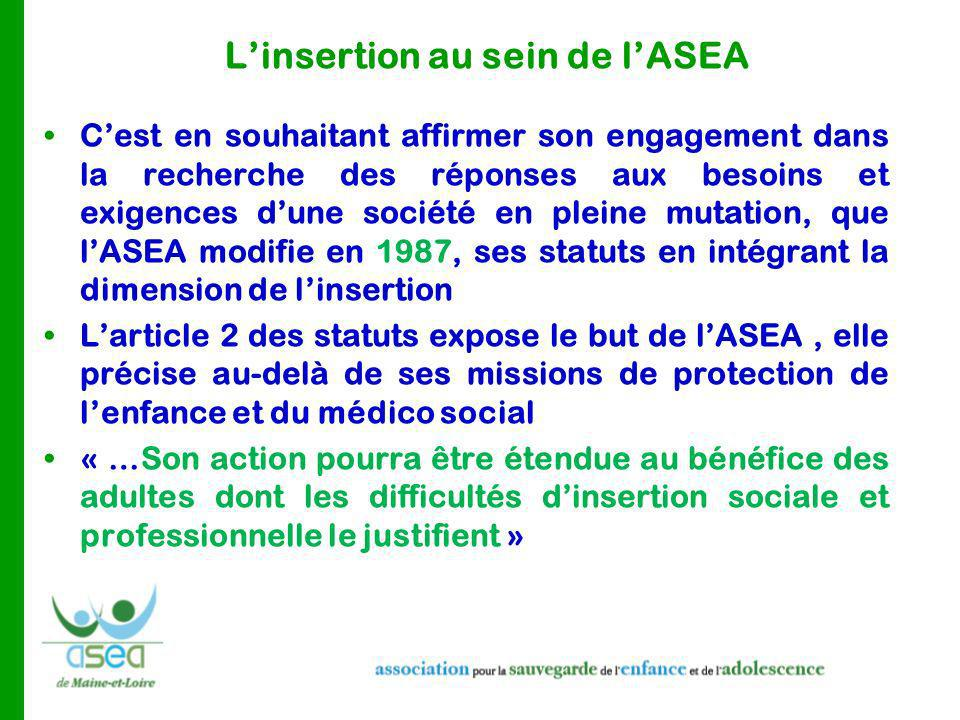 L'insertion au sein de l'ASEA