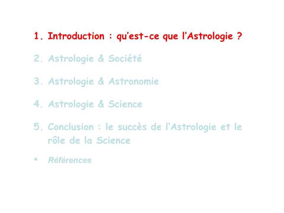 Introduction : qu'est-ce que l'Astrologie Astrologie & Société