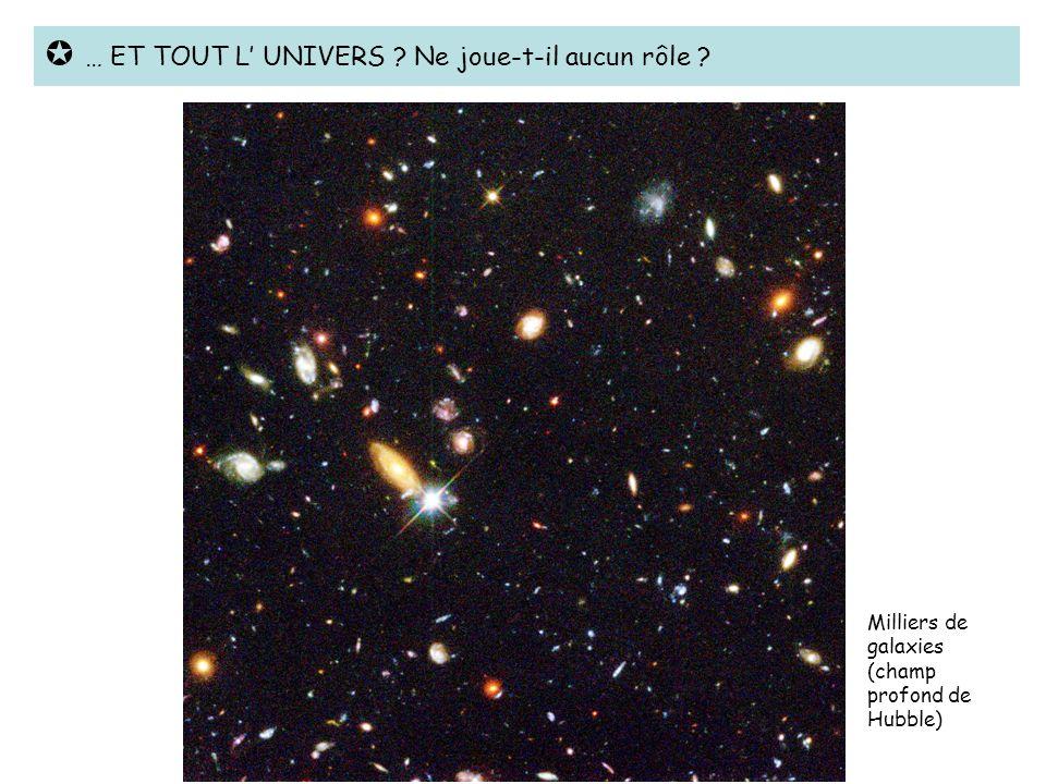  … ET TOUT L' UNIVERS Ne joue-t-il aucun rôle