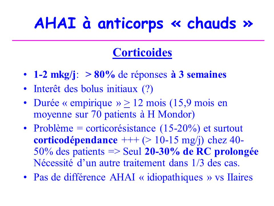 AHAI à anticorps « chauds »