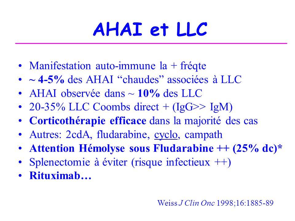 AHAI et LLC Manifestation auto-immune la + fréqte